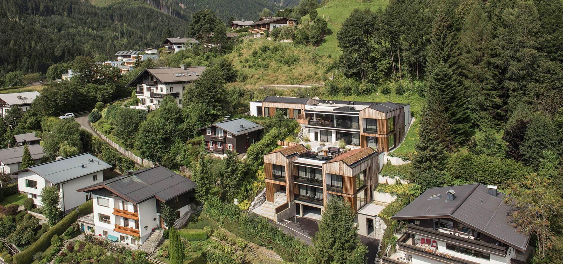 Senses violett suites designhotel in den bergen von zell for Designhotel in den bergen